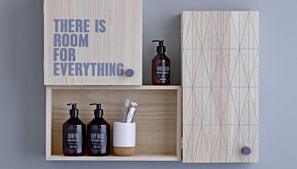 SMARTE LØSNINGER: La deg inspirere av møbelkataloger og sett sammen småskap og trekasser til et komplett oppbevaringssystem på bad og kjøkken.
