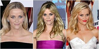 VANSKELIG VALG?: At det er en av disse hårskillene Reese Witherspoon kler mindre enn de andre, er kanskje ikke vanskelig å se.