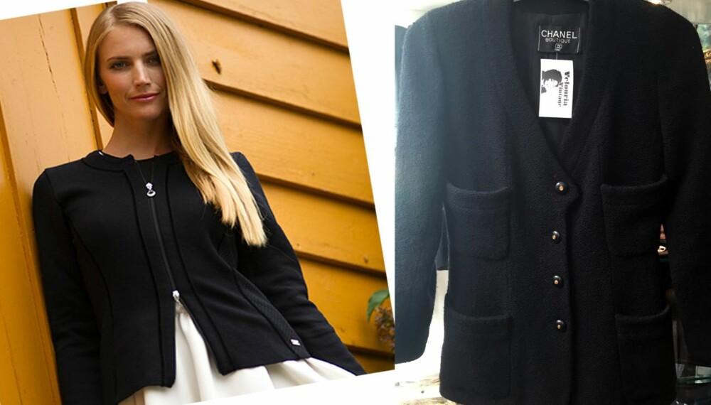 JAKKEN «ALLE» KLER: Dale of Norway  har nylig utgitt jakken «Ragnhild», som de omtaler som «Norges svar på Chanel» (på bildet helt til høyre). Under har vi samlet ekspertenes beste stylingtips og plukket ut de fineste budsjettvarianter som er i butikk nå - i ekte Chanel-ånd (som du kan se en vintagevariant av til venstre, kr 6500).