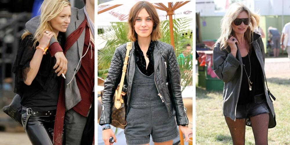 ROCKA: Kate Moss og Alexa Chung viser hvordan du kan kjøre en rocka stil på festival i sommer.