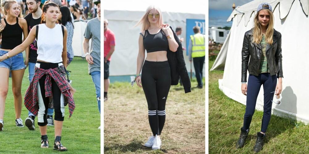 SPORTY: Den sporty stilen er både kul og komfortabel. Her sett på Sofia Richie, Grace Chetto og Cara Delevingne.