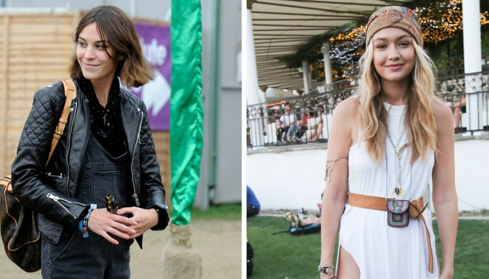 FESTIVALMOTE: Hva slags stil går du for i år? Alexa Chung sin rocka stil eller Gigi Hadid sin bohemstil?