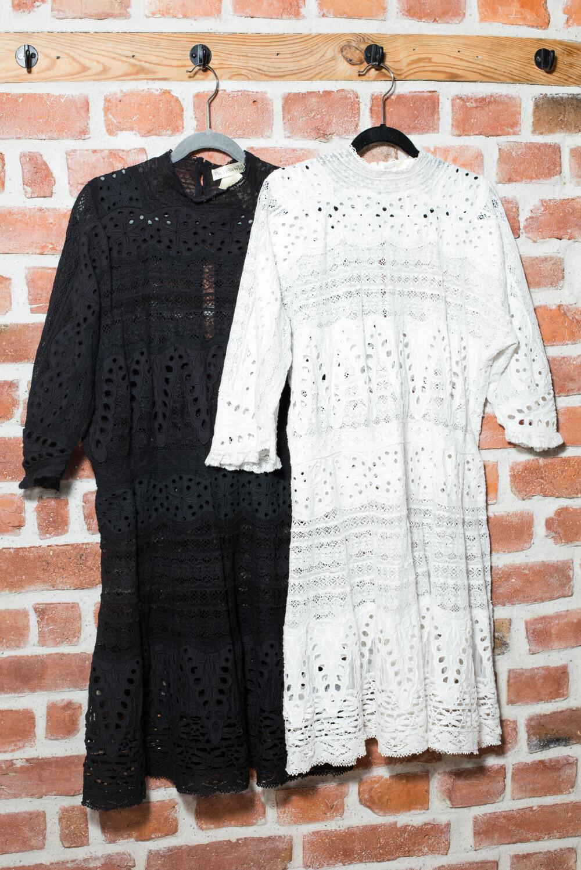 RØVERKJØP: De to kjolene fra Pia Tjeltas første kjolekolleksjon for by TiMo, som hun fikk til en brøkdel av prisen på vareprøvesalg, er Sigrids aller beste kjøp.