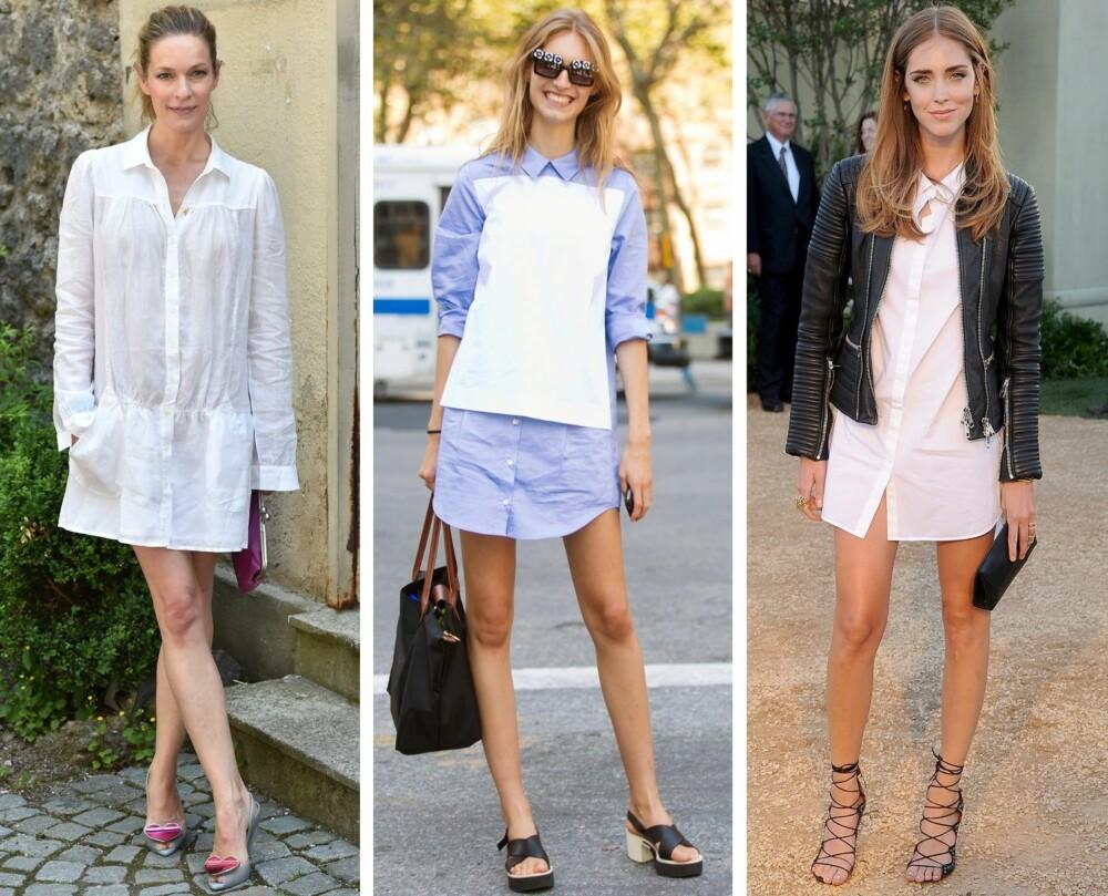 INSPIRASJON (f.v.): Den tyske skuespilleren Lisa Martinek, modell Manuela Frey og moteblogger Chiara Ferragni.