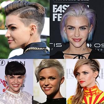 HÅRBESATT: Ruby har sportet alskens hårfrisyrer i løpet av sine 29 år, men det er den barberkorte frisyren hun trives best i.