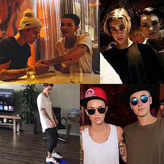 BIEBER: Ruby Rose og Justin Bieber ser ut til å ha blitt gode kompiser den siste tiden.