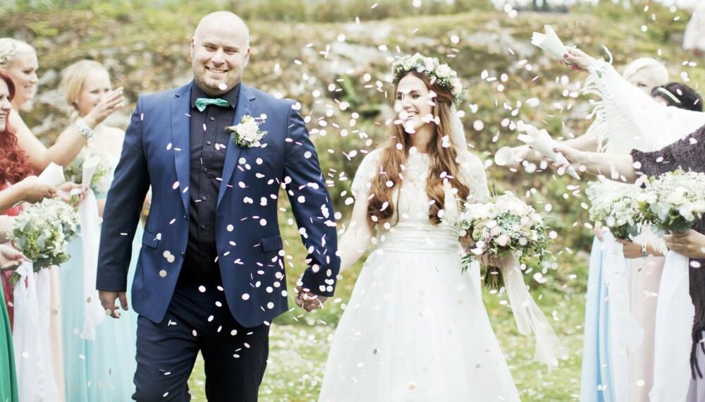 2087d36c3fee Etter 13 år som kjærester giftet Stine og Martin seg