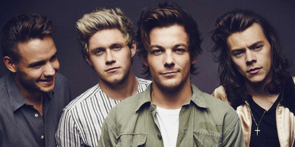 Liam, Niall, Louis og Harry i One Direction.