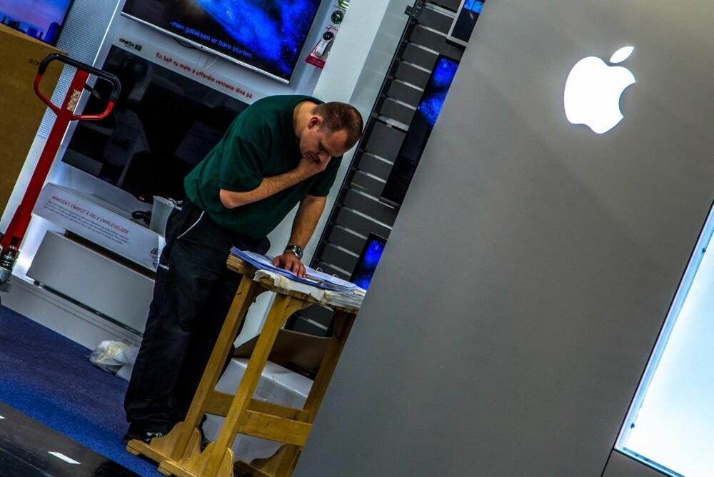 VERDENS FØRSTE: Elkjøp Megastore på Lørenskog få åpne den første shop-in-shop-løsningen til Apple.