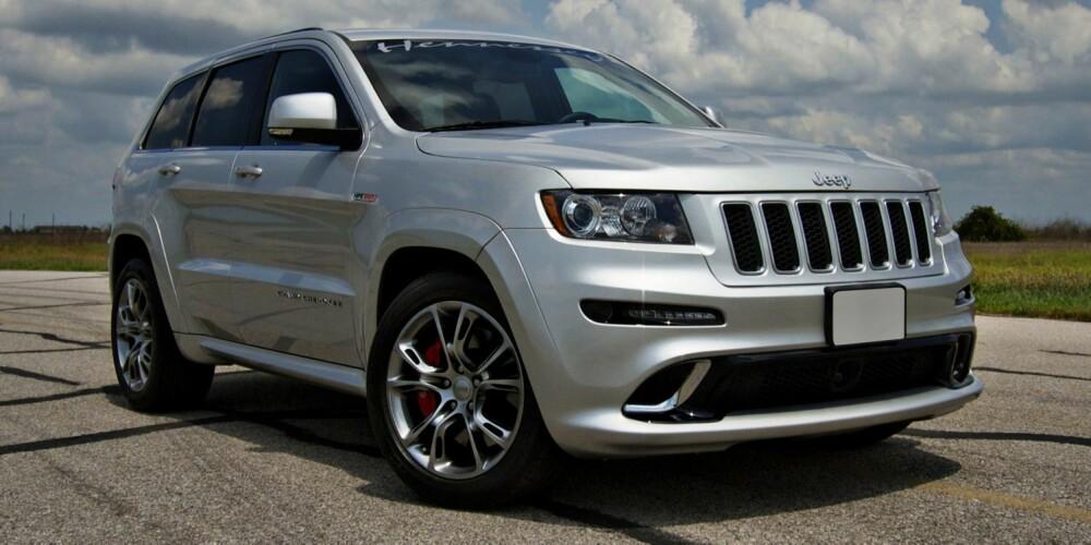 RASK: Jeep Grand Cherokee SRT8 392 HPE650 (puh!) er svært rask. FOTO: Hennessey
