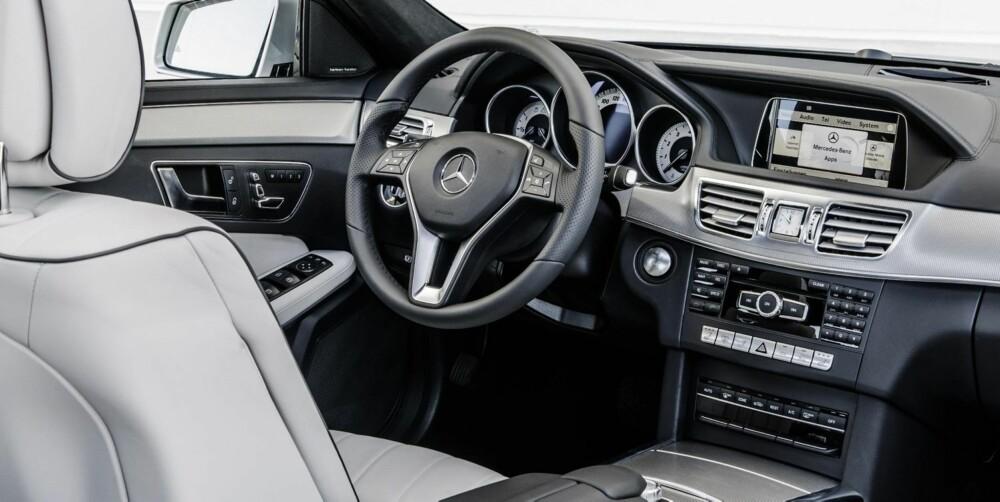 LITE LØFT: Mercedes er kjent for praktfulle førermiljøer. Nye E-klasse blir ikke et unntak.