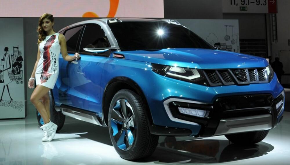 NY SUV: I 2015 kommer en ny Suzuki-SUV basert på iV-4-konseptet som Suzuki viste frem på bilutstillingen i Frankfurt. FOTO: Suzuki