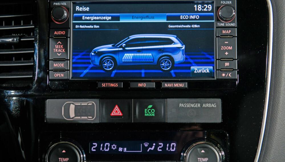 SNART: Mitsubishi Outlander som plug-in hybrid er ventet til Norge tidlig neste år med en prislapp under 500 000 kroner. FOTO: Mitsubishi