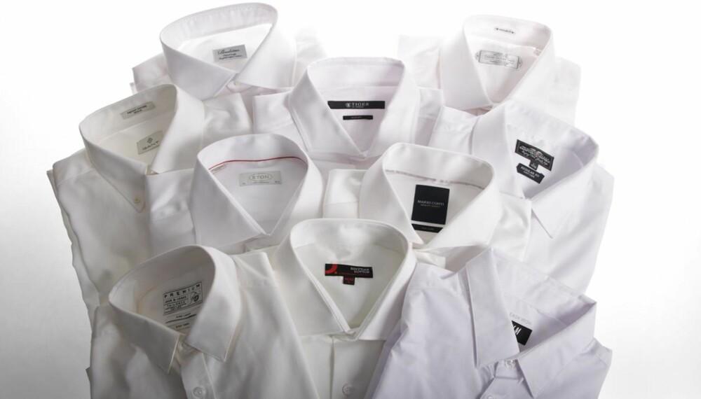09000029 Men du får slett ikke alltid alltid det du betaler for - vi har testet ni  herreskjorter.