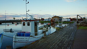 NYTT LIV: Da fiskebåtene i Kårehamn havnet i opplag, ble det gjort plass til bobilene.