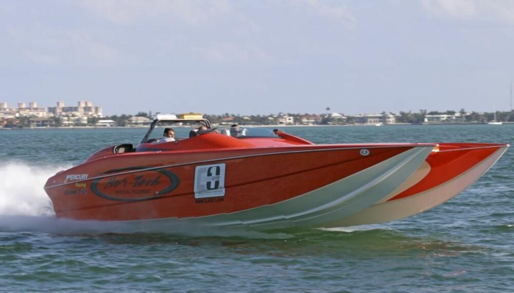 OVER 100: Nor-Tecc Supercat 3600 har en toppfart på godt over 100 knop.
