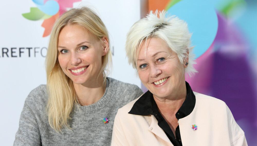 VIL HA ENDRING: Redaktør i Det Nye Karine Thyness og Generalsekretær i Kreftforeningen Anne Lise Ryel går sammen om å oppfordre unge kvinner til å ringe fastlegen og ta en celleprøve.