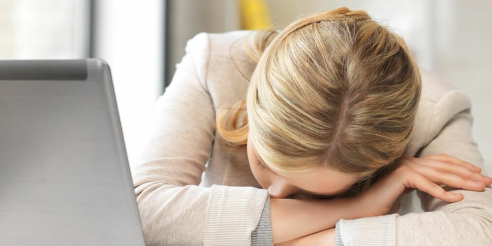 NÅR JOBBEN ER TILTAK: Du bør ikke grue deg til jobb. Om du gjør det, er det på tide å ta noen valg. ILLUSTRASJONSFOTO: Colourbox