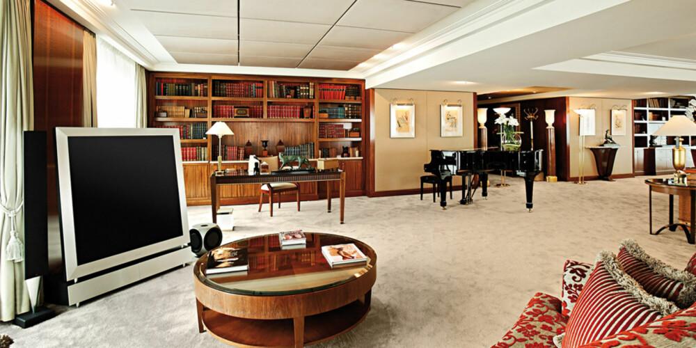 DYREST: Det krever sitt feriebudsjett å sjekke inn på Royal Penthouse Suiten på Hotel President Wilson i Geneve.