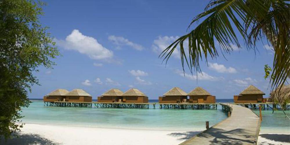 PARADIS: Veligandu Island Resort and Spa på Maldivene regnes som et av verdens mest romantiske hoteller.