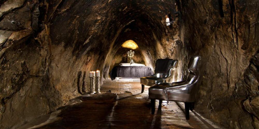 UNDER JORDEN: I Sverige kan du sjekke inn på et hotellrom som ligger dypt under jorden.
