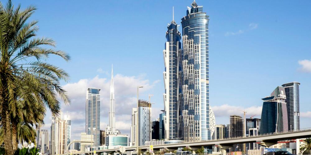 HØYEST I VERDEN: JW Marriott Marquis i Dubai er ikke for deg med høydeskrekk.