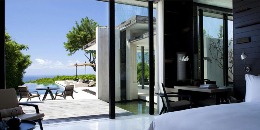ØKO-HOTELL: På Alila Villas Uluwatu på Bali har man kun bygget med resirkulerte materialer.