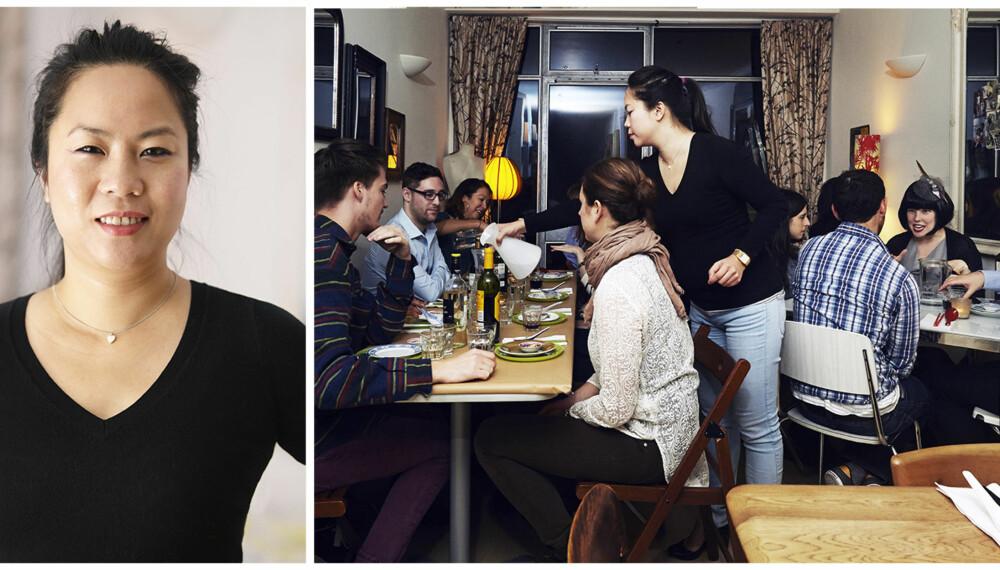 UNDERGRUNNSRESTAURANT: Uyen Luu har drevet restaurant hjemme i flere år, og anses som en av Londons beste undergrunnsvertinner.