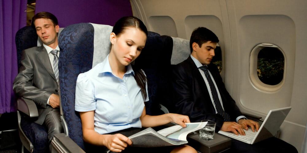 OPPGRADERT FLYBILLETT: De fleste flyselskaper tilbyr oppgradering av flybilletten din. ILLUSTRASJONSFOTO: Colourbox