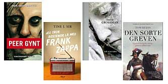 ÅRETS LESEROPPLEVELSER: Dette er bokhandlerens favoritter. FOTO: Forlagene