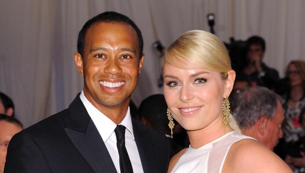OFFENTLIG: Det vakte stor oppsikt da Tiger Woods' utroskap ble kjent. Her er golfspilleren med sin nåværende kjæreste Lindsey Vonn. FOTO: Stella Pictures