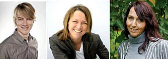 KILDER: Peder Kjøs, psykolog og samlivsekspert, Cecilie Staude, høyskolelektor ved Institutt for markedsføring og fagansvarlig for BIs kurs i sosiale medier og Kate Elin Søyland, samlivsterapeut ved Åpen Dialog. FOTO: Pax Forlag og privat.