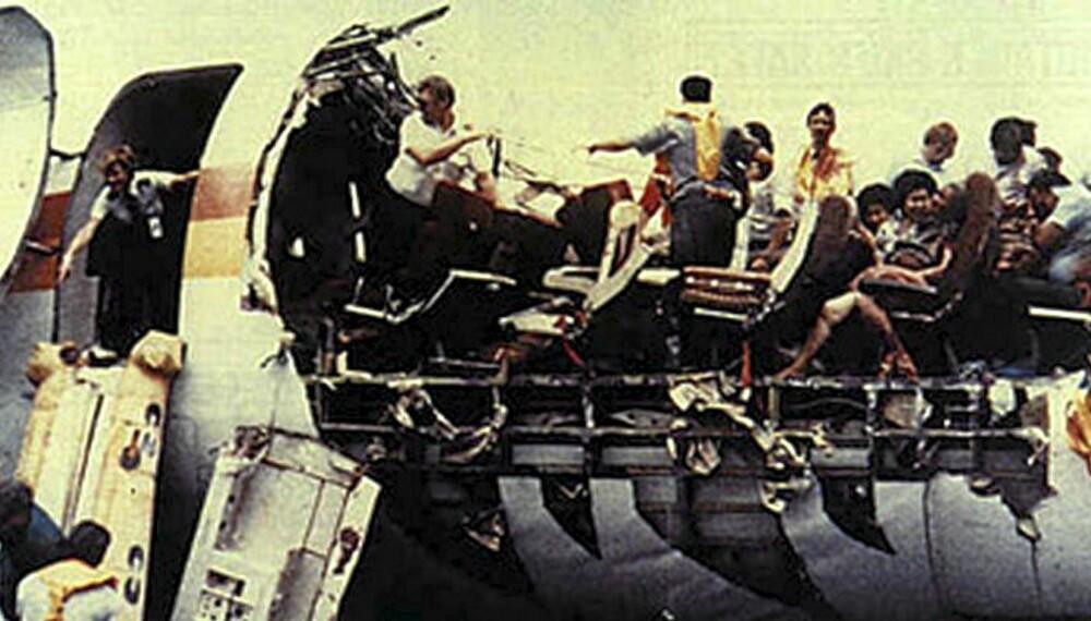 Bare en person omkom i denne flyulykken med Aloha Airlines på vei til Honolulu i 1988.