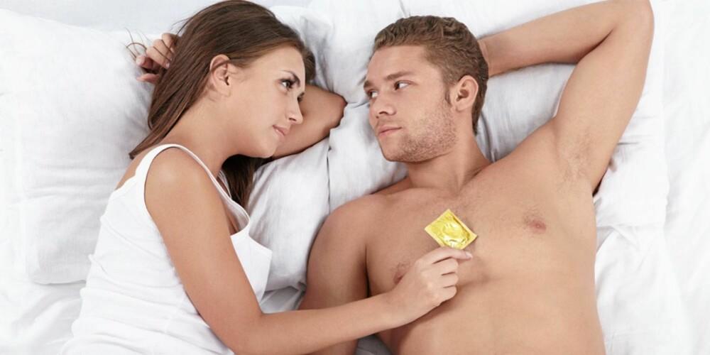 SJELDEN: Hele 72 % benytter sjelden til aldri kondom, i følge undersøkelsen.