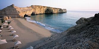 STRANDLIV: Du kan fin-fint reise til Oman på sommerferie.