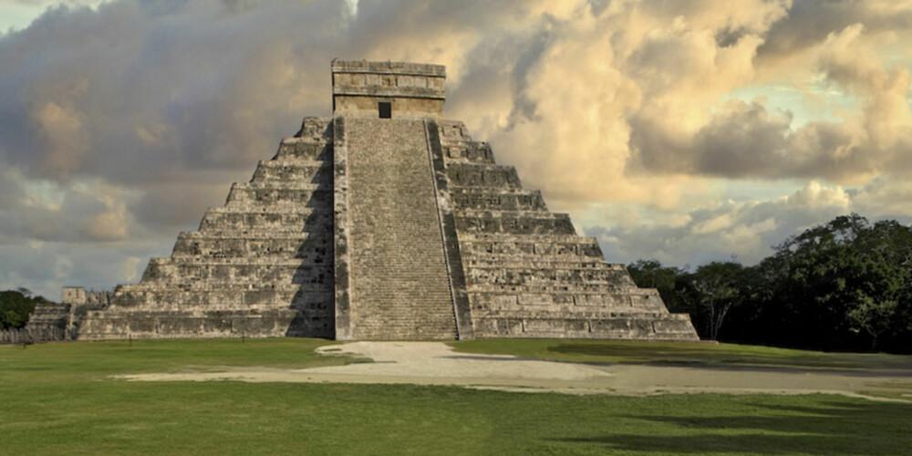 MAYA-SIVILISASJONEN: Chichén Itzá er den mest berømte og best restaurerte av de gamle Mayapyramidene.