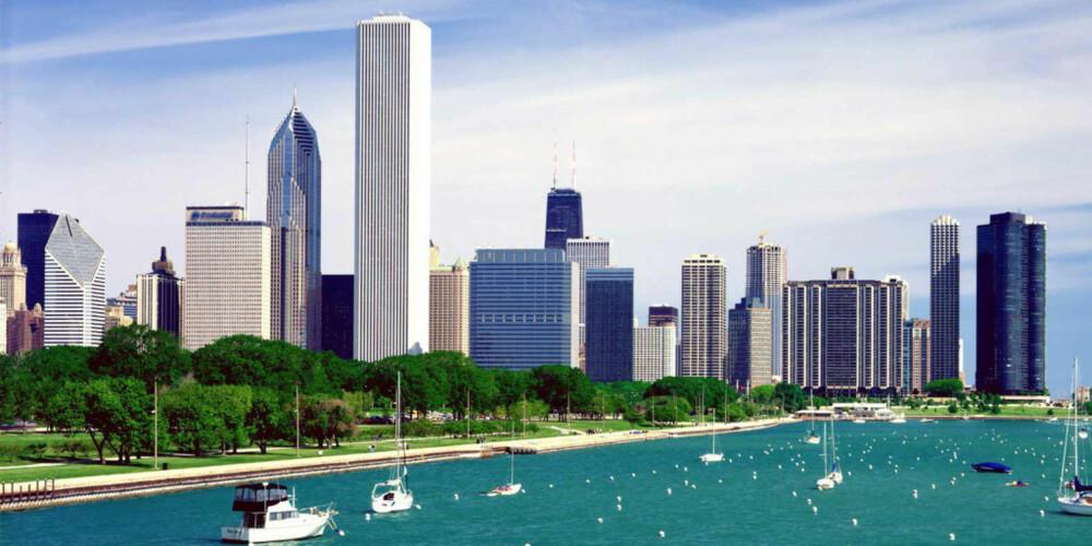 BADEBY: Chicago har hele 33 hvite sandstrender å skryte av.