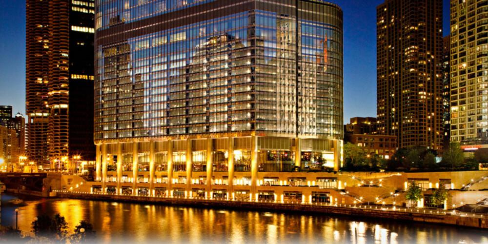 """TRUMP TOWER: Om du vil unne deg til ekstra luksus på ferien, ja da sjekker du inn på """"The Donald""""s ikoniske Chicago hotell."""