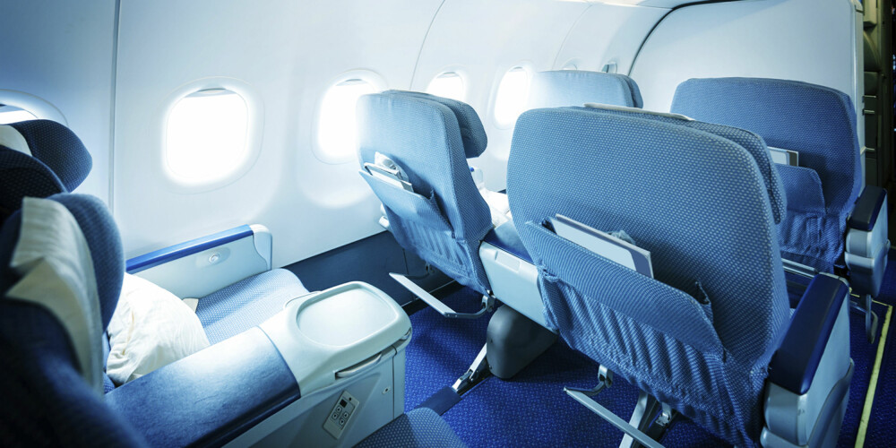BAKOVERLENT SETE: Å kunne vippe setet bakover gir en ekstra komfort mange passasjerer benytter seg av. ILLUSTRASJONSFOTO: SAS