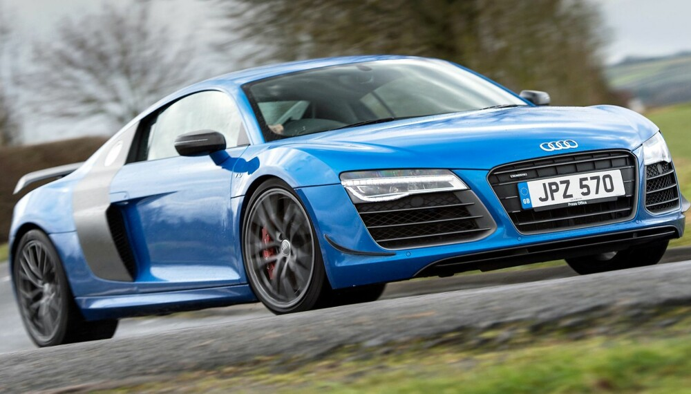 AUDI R8: SPESIAL: Audi R8 av første generasjon takker for seg, i bedre form enn noen gang. FOTO: Audi