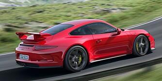 RÅSKAP: GT3 er en rå versjon a syvende generasjon 911, lansert i 2011. FOTO: Porsche