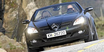 SNITTKARAKTER: 84,4 % av de kontrollerte Mercedes SLK (2000-2004) er uten vesentlige feil. FOTO: HM Arkiv