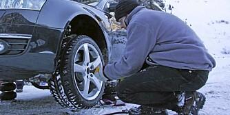 SNØ: Det plutselige snøkaoset flere steder i landet indikerer at det er på tide å legge om til vinterdekk.