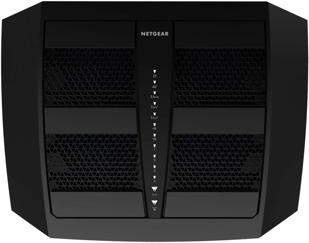 STILIG: Har du ikke behov for å brette ut antenne blir Netgear Nighthawk X6 R8000 litt mer kompakt.