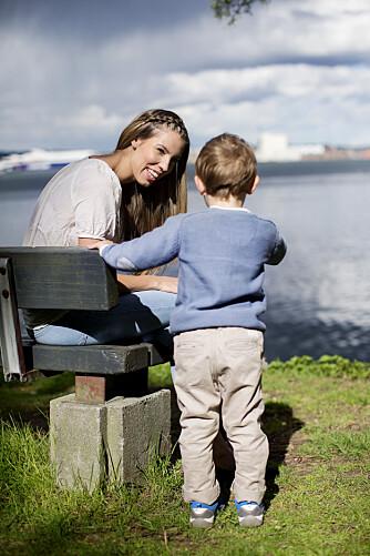 LIVET BLIR BEDRE: Rebecca med sønnen Matheo.