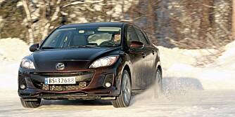 MAZDA 3: Forrige generasjon av Mazdas kompaktbil var ingen salgssuksess i Norge, men feilstatistikken viser at det ikke er bilen det står på. FOTO: Egil Nordlien, HM Foto