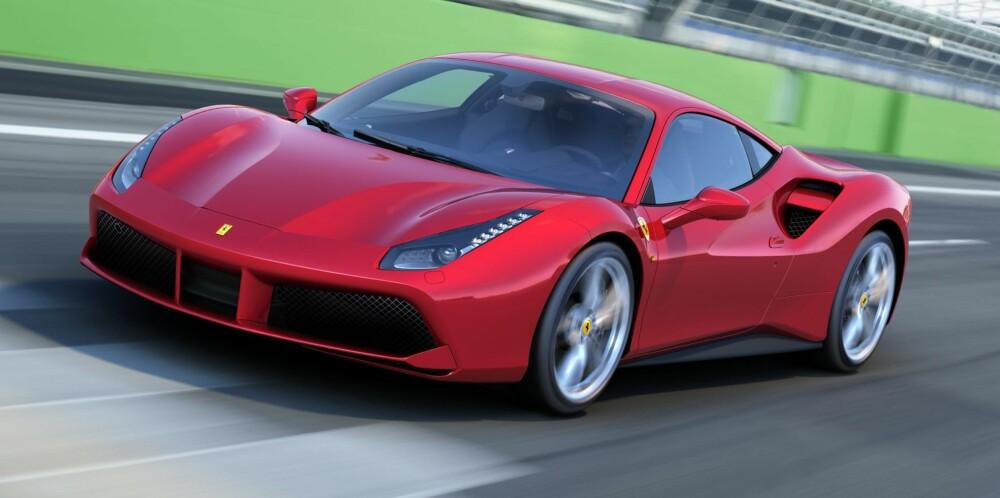 TURBO: Siste skrik fra Ferrari: 488 GTB. FOTO: Ferrari