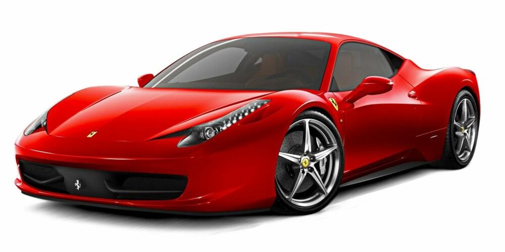 FORGJENGEREN: Ferrari 458 Italia. FOTO: Ferrari