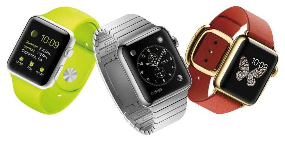 "APPLE WATCH: Nå kommer Apple Watch. Toppsjefen i Apple, Tim Cook, lover ""all day"" batterilevetid - cirka 18 timer."