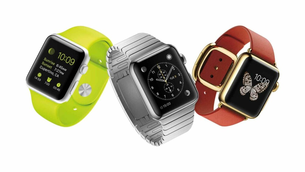 "APPLE WATCH: Nå kommer Apple Watch. Toppsjefen i Apple, Tim Cook, lover ""all day"" batterilevetid - cirka 18 timer."
